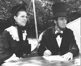 Max and Donna dressed as the President and Mrs. Lincoln